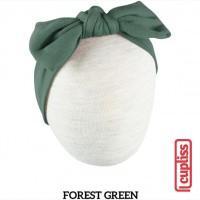 Little Palmerhaus Classic Knot Headband Forest Green Bandana Bayi