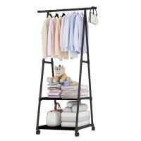TRIANGLE CLOTH Gantungan Baju Segitiga 4 Roda Rak Multifungsi