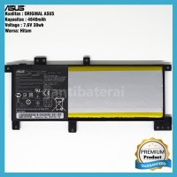 Baterai ASUS A456 A456U A456UJ A456UV A456UF A456UQ CN21N1508 ORI