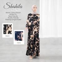 Baju Gamis Drees Wanita Terbaru Shahila Bahan Katun Rayon Premium