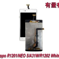 LCD TOUCHSCREEN OPPO R1201-NEO 5-A31W- LCD TS OPP WHITE ORG