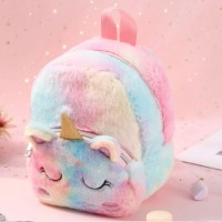 BB Tas anak fashion Backpack Unicorn Gradasi - Merah Muda