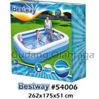 Bestway 54006 Kolam Renang Karet Anak Keluarga Besar 262 cm - Kolam