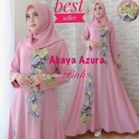 Baju Busana Muslim Wanita Gamis Syari Pesta Abaya Azura Renda Terbaru