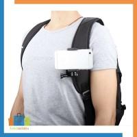 Holder Klip Strap Backpack Gopro Xiaomi Yi HP Smartphone Mount Dada