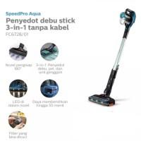 PHILIPS FC6728 SpeedPro Aqua Cordless Stick Vacuum Cleaner - Black