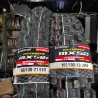 Paket Ban Dunlop Geomax TRAIL MX52 80 / 100 21 - 100 / 100 18