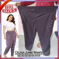 CELANA BAGGY PANTS JUMBO | Highwaist Wanita/Cewek/Perempuan Bigsize