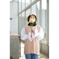 Silmi blouse top wanita bahan twiscone size fit L
