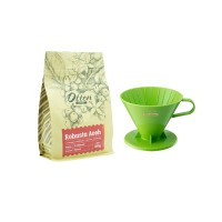 Promo Paket Seduh Tiamo - V02 Coffee Dripper Green 2-4 Cups (HG5277)