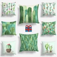 Bantal Sofa Motif Tanaman Kaktus / Cactus Plant / Sukulen