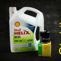 Paket Oli Shell Helix Eco 5W-30 3.5L + Filter Oli mobil LCGC Agya Ayla