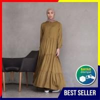 Baju Gamis Dress Maxy Wanita Terbaru POLOS Bahan Katun Rayon Premium