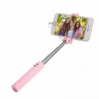 Selfie Stick K8 IP WIRED Tongsis Khusus iPhone (AGT) HOCO - PINK