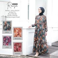 Baju Gamis Drees Wanita Terbaru Raisa Bahan Katun Rayon Premium
