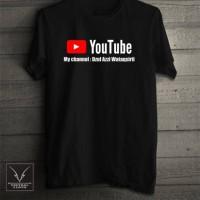 T-shirt Youtube Custom Channel / kaos yutuber youtuber murah vlog