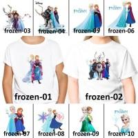 [ FREE NAMA ] Baju Kaos custom ANAK DAN DEWASA frozen princess - Size 2