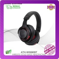 Audio Technica ATH WS990BT RED Hi-Res Solid Bass Bluetooth Headphone