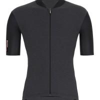 baju jersey woman Santini Colore Slim fit Nero/Black