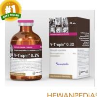 VTROPIN 0.3% 50 ml - Atropin Hewan Sapi Anjing Kucing Kambing Vitropin