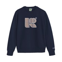 Russ Sweater Crewneck Flanola Navy