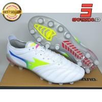 Sepatu Bola - Soccer Mizuno Morelia Neo 3 Leather White Multicolor FG