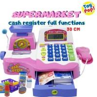 Mainan Kasir Kasiran Supermarket lengkap Mic, Kalkulator, Scanner 30cm