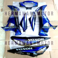 body supra x 125 th 2005-2006 warna biru lengkap