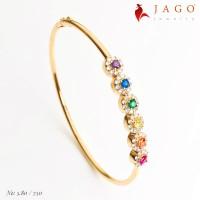 Jago Jewelry Gelang Emas Aliosia - Perhiasan Emas 18K-Y