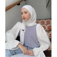 Silmi blouse / top wanita bahan twiscone size fit L murah
