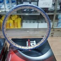 Velg Almini TDR W Shape 2 Warna Blue dan Gold Ukuran 160 Ring 17