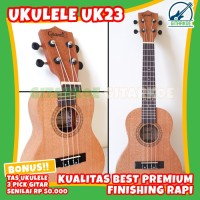 Ukulele Grande Concert UK23 Original Free Tas & Pick Import Quality T3