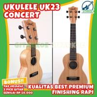 Ukulele Grande Concert UK23 Original Free Tas & Pick Import Quality T1