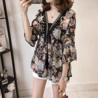 baju atasan wanita korea style blouse import - Tassel Tops Import