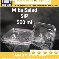 Mika Salad 500ml isi 10set Mika Cup Salad Mika Es Buah
