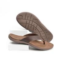 Cevany Sandal Pria Kulit Asli - Coklat SC15