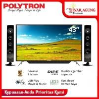 LED TV POLYTRON Cinemax 43Inch PLD 43T150 / 43T150 Garansi Resmi