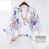 Baju Batik Blouse Encim Top Motif bunga batik cap premium