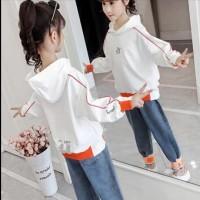 Setelan Jeans Import Anak Cewek Perempuan Celana Panjang Fashion Korea