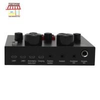 TaffSTUDIO Audio USB External Broadcast Microphone Head Soundcard Live