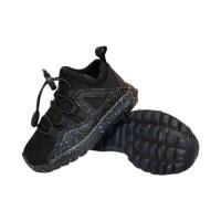 sepatu sneakers anak sekolah laki nike jordan import black slip on