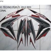 Striping Stiker Motor Honda Vario techno 125 F1 2013 Merah