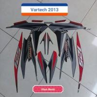 Sticker Striping Motor Honda Vario Techno 125 2013 Hitam Merah