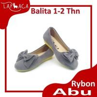 Laphaca Sepatu Anak Flat Shoes Perempuan Cewek RYBON ABU 1-2 Tahun