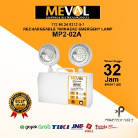 MEVAL LAMPU LED EMERGENCY LAMP RECHARGEABLE TWINHEAD MP2-02A