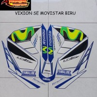 Striping Stiker Motor Yamaha Vixion LE Movistar 2014 Lis Biru
