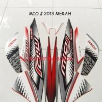 Striping Lis Stiker Motor Yamaha Mio J Sporty 2013 Merah