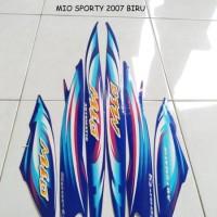 Sticker Striping Motor Yamaha Mio Sporty 2007 Biru