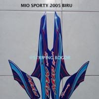 Stiker Striping Motor Yamaha Mio Sporty 2005 Lis Biru