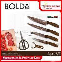 BOLDE SUPER KNIVES PISAU 6 PCS SET MARBELLA - ORIGINAL